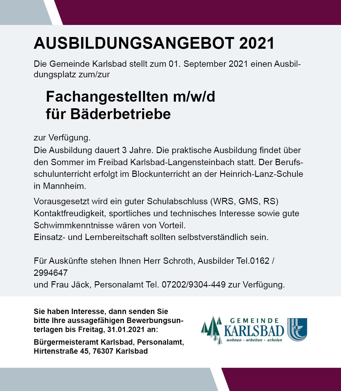 Stellenangebote Karlsbad